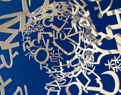 Buchstaben vieler Sprachen bilden einen Corpus