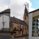 Collage der Katholischen Kirchen der Stadt in der Pfarrei Carl Lampert