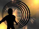 Schattenbild eines Kindes